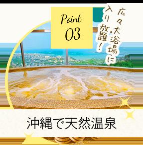 Point 3 沖縄で天然温泉